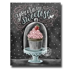 Cupcake Art Chalkboard Art Cupcake Print Valentines Day Love Sign Cupcake Stand Chalk Art Youre The Sweetest Bakery Sign Art Chalk art signs Chalkboard Art Quotes, Blackboard Art, Chalkboard Print, Chalkboard Lettering, Chalkboard Designs, Chalkboard Stand, Cupcake Kunst, Cupcake Art, Cupcake Bakery