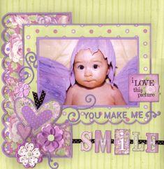 (Daisy d's DT ~ CHA 2008 Sneak Peek)  You Make me Smile - Scrapbook.com