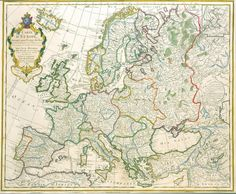 #Map of #Europe by Jean-Claude Dezauche. On VintPrint.com. Brand new print for sale.