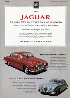 Jaguar Mark Ten E Type S Mark 2 1965 - Mad Men Art: The 1891-1970 Vintage Advertisement Art Collection