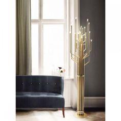 Janis Floor Lamp - дизайнерский оригинальный напольный светильник в современный интерьер. Торшер, напольная лампа. Стильный дизайн.