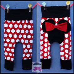 Minnie Mouse Inspired Maxaloones Monkey Pants by MustachesAndBows