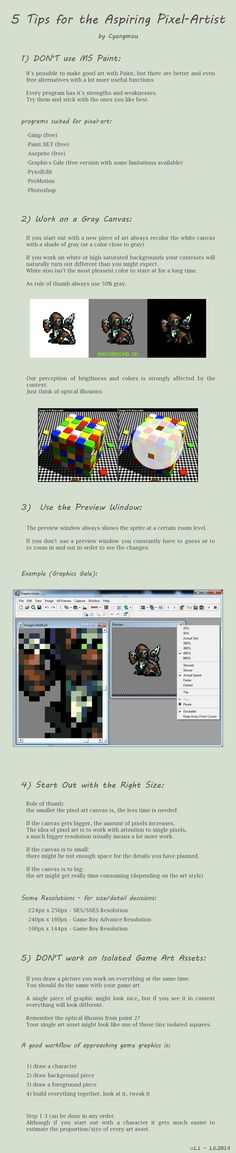 5 Tips for the Aspiring Pixel Artist by Cyangmou.deviantart.com on @deviantART