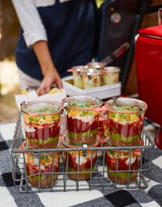 Williams Sonoma Score major points at your next tailgate with these individual Dip Jars. Tailgating Recipes, Tailgate Food, Williams Sonoma, Shaker Lemon Pie, 7 Layer Dip Recipe, Sauces, Weck Jars, Seven Layer Dip, Pots