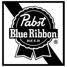Beer pabst blue logo ribbon
