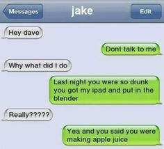 Funny Texts Pranks Laughing So Hard Guys 30 Best Ideas Funny Drunk Texts, Funny Texts Jokes, Text Jokes, Funny Text Fails, Drunk Humor, Cute Texts, Funny Relatable Memes, Epic Texts, Stupid Texts