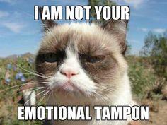 Emotional tampon grumpy