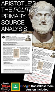 Aristotle's Primary Source Worksheet (Greece) AND Distance Learning version World History Teaching, World History Lessons, Google Docs Classroom, History Lesson Plans, Primary Sources, Teaching Social Studies, Teacher Blogs, Industrial Revolution, Native American History