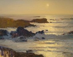 Misty Surf, Pebble Beach by Brian Blood - Oil