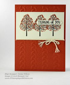 Stampin' Up! Fall-Themed swap cards shared by Dawn Olchefske #dostamping #stampinup (Denise Wilson)