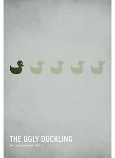 Minimalist Fairy Tale posters: Ugly Duckling