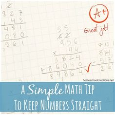 Simple Math Tip to Keep Numbers Straight