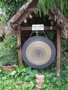 """Never seen a gong with it's on little house!  I love it """"ring gong for service"""".  Find your gong at www.thegongshop.com"""