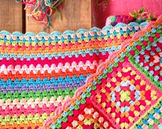 Haken en meer: Granny stripe deken