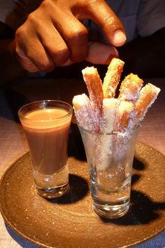 Churros con chocolate!  Viva Espana!!