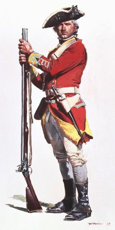 British Line Infantry, early Revolutionary War kit