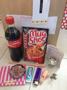 Hen Survival Kit with personalised Coke bottle.