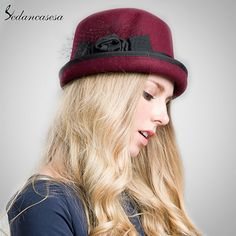 100% Wool From Australian Cloche Fedora Hat For Women Round Brim Soft Hat Floopy Fedora Ladies Formal Hat Like if you remember #shop #beauty #Woman's fashion #Products #Hat
