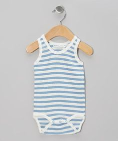 http://www.genderneutralbabyclothes.com/category/under-the-nile/ This Blue Stripe Organic Bodysuit – Infant by Under the Nile is perfect!