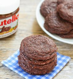 4 Ingredient Chewy Nutella Cookies | Kirbie's Cravings | A San Diego food blog