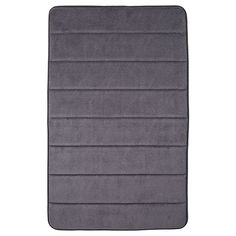 Memory Foam Bath Mat - Steel Grey