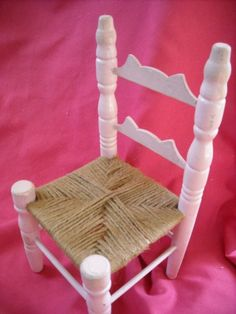 "primitive country display doll furniture chair hand painted light pink mediumfor sale in my store The Chic N Prim cottage ebay have to put in the ""the "" in search engine $14 FREE Shipping when you spend $30 or more!"