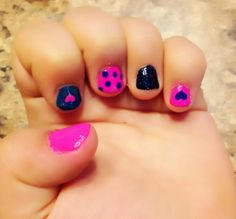 ( little girls nails ) Lexi Nails, Ruby Nails, Diva Nails, Girls Nail Designs, Classy Nail Designs, Cool Nail Designs, Art Designs, Little Girl Nails, Girls Nails