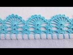 Crochet Edging Patterns, Crochet Lace Edging, Crochet Borders, Crochet Doilies, Crochet Stitches, Curtain Patterns, Handicraft, Crochet Earrings, Embroidery