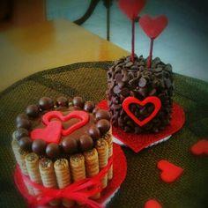 Mini tortas de chocolate