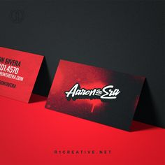 Business cards leave a lasting, personal impression. Check out our bespoke design for Aaron The Era.    #R1Creative #aarontheera #branding #stepyourbrandup