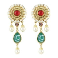 Pair of Gorgeous Faux Pearl Gem Water Drop Earrings For Women #men, #hats, #watches, #belts, #fashion, #style