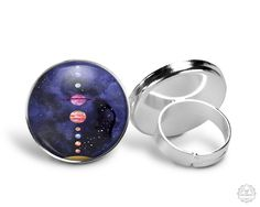 Solar System Ring | Planet Ring Planet Jewelry Space Jewelry Galaxy Jewelry Astronomy Jewelry Space Grunge Cosmic Adjustable Ring by AgeOfAkuarius on Etsy