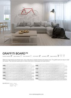 All of our faux brick panels come in 2 ft. x 4 ft. sections for easy handling and feature an interlocking edge. Faux Brick Wall Panels, Brick Wall Paneling, Tv Feature Wall, Feature Wall Design, Interior Walls, Interior Design, Interlocking Bricks, Cool Walls, Wall Ideas