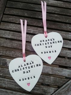 Personalised Clay Christening Gift/Favours by DreamBrides on Etsy