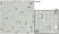 "Glazzio Tiles Mosaic Opulence Jewel 1/2"" Series"