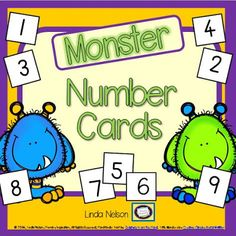 FREE monster number cards, with 4 ideas for using them in games . addition, place value, sequencing, and more! Monster Activities, Pirate Activities, Sequencing Activities, Dojo Monsters, Pirate Day, Classroom Freebies, Theme Halloween, Math Workshop, Math Numbers