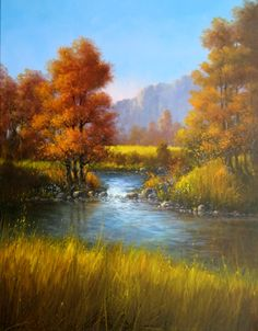 Jerry Yarnell is a huge inspiration to my landscape aspirations. He is a genius with acrylics and nature.