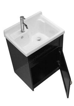 Alexander 24 Black Laundry Utility Sink