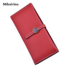 New Fashion Women Wallets PU Leather Zipper Wallet Women s Long Purse Two  Fold Clutch Card Bag f13c9f389007d