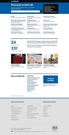 Gov.uk - site institutionnel Penser le parcours utilisateur #UX #marotte
