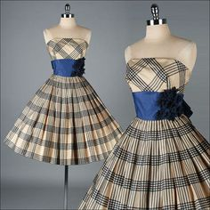 Vintage 1950s Dress . EMMA DOMB . Strapless by millstreetvintage