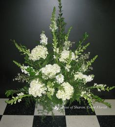 Altar Arrangement: Hydrangeas & Snapdragons by Rose of Sharon-Event Florist… Altar Flowers, Church Flowers, Funeral Flowers, Wedding Flowers, Funeral Floral Arrangements, Easter Flower Arrangements, Memorial Flowers, Sympathy Flowers, Floral Centerpieces
