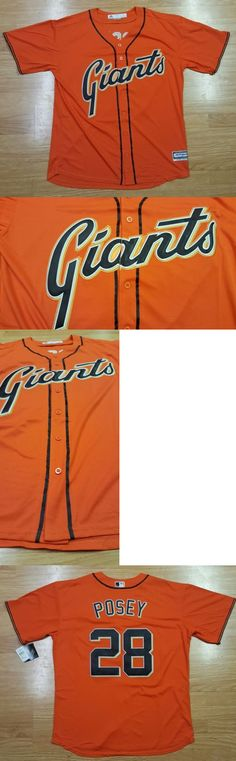 Baseball Shirts and Jerseys 181336: Buster Posey S.F. Giants Baseball Jersey Mens Xl Stitched Button Down Nwt -> BUY IT NOW ONLY: $54 on eBay!