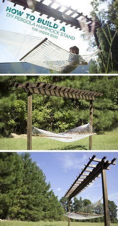 DIY Pergola Hammock Stand | How To Make A Portable Swing - Great DIY Projects For Camping, Indoor Or Outdoor Home Style by DIY Ready at http://diyready.com/10-diy-hammock-stand-ideas/
