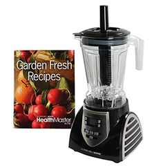 Special Offers - Montel Williams 8 Speed JLA-8 HealthMaster Elite 1200 Watt Blender  Fruit & Vegetable Emulsifier Juicer & Food Processor with Recipe Book and DVD - In stock & Free Shipping. You can save more money! Check It (May 03 2016 at 05:19AM) >> http://standmixerusa.net/montel-williams-8-speed-jla-8-healthmaster-elite-1200-watt-blender-fruit-vegetable-emulsifier-juicer-food-processor-with-recipe-book-and-dvd/