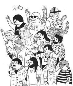 a few good beardos in this illustration