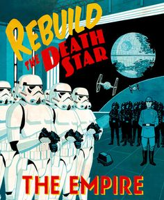 """Image of """"Rebuild the Death Star"""" by Cliff Chiang- Paper (13"""" x 19"""")"""