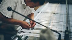 Hangzhou China: Silk Weaving.