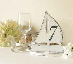 perfect Table Number treatment for beach or nautical themed event