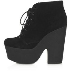 TOPSHOP Azure Chunky Lace Up Platform Boots found on Polyvore